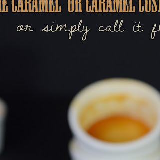 Caramel Custard Or Flan...