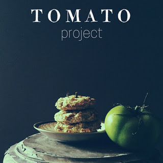 Oven Fried Green Tomatoes with Orange Kefir Sauce