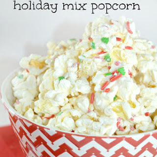 Oh-So Simple 3-Ingredient Holiday Popcorn Mix
