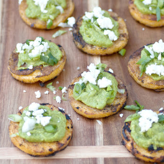 Grilled Polenta Avocado Rounds.