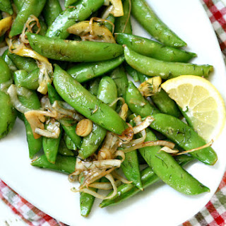 Lemony Stir Fried Sugar Snap Peas