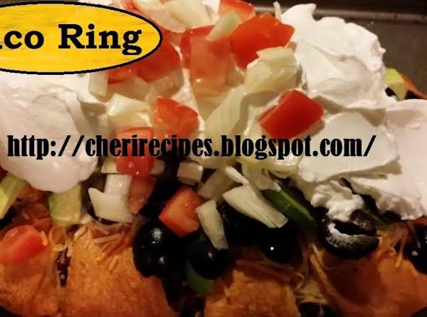 Try My Taco Crescent Ring It's Delicious