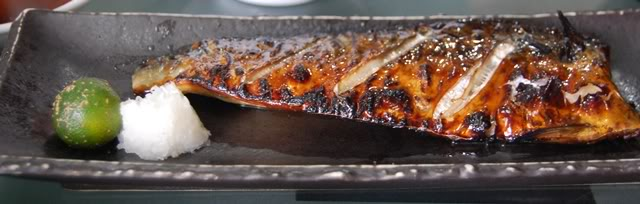 grilled saba
