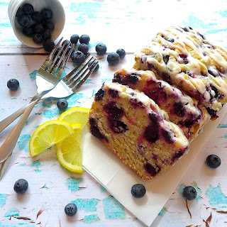 Meyer Lemon Blueberry Cake.