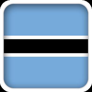 Selfie with Botswana flag