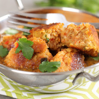 Carrot And Red Lentil Koftas.