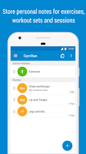 GymRun Workout Diary and Fitness Tracker- screenshot thumbnail