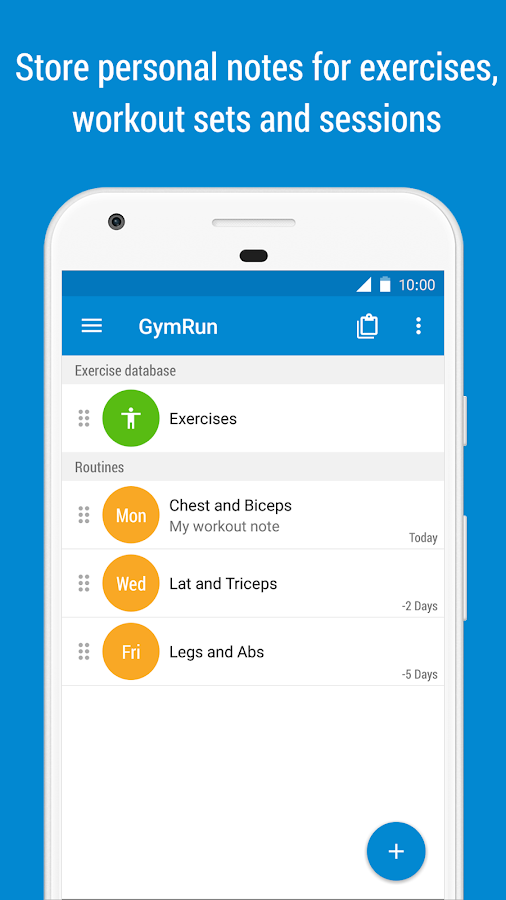 GymRun Workout Diary and Fitness Tracker- screenshot