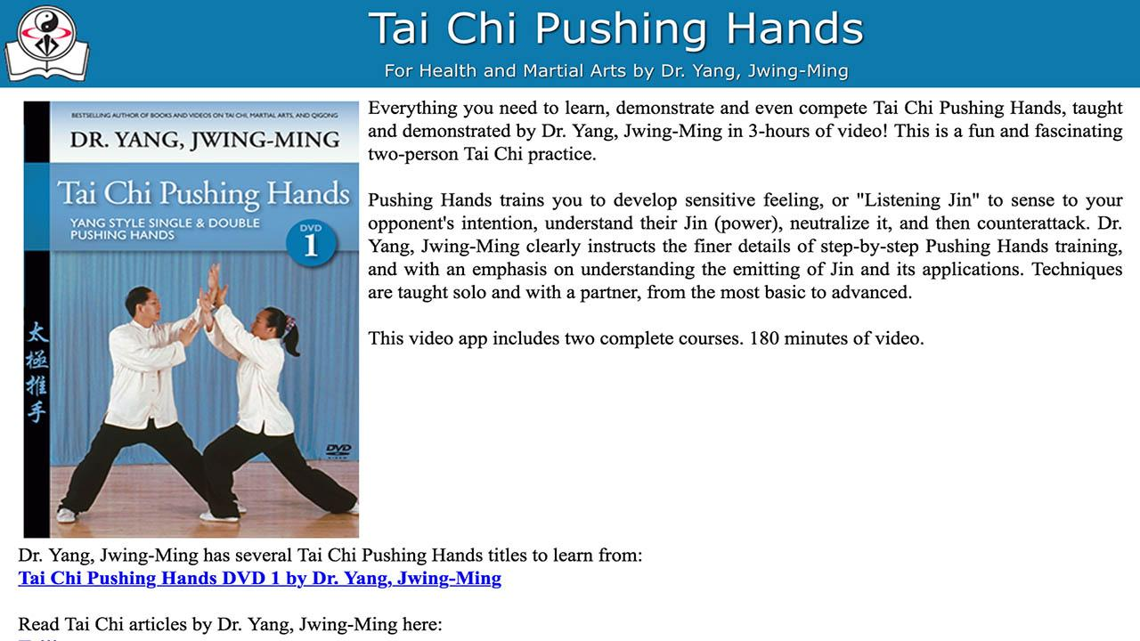 Tai Chi Pushing Hands- screenshot