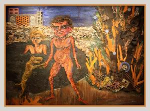 Photo: Antonio Berni Juanito bañándose entre latas (o Juanito Laguna bañándose) 1963. 152 x 210 cm. Colección Silvia Braier, Buenos Aires. Expo: Antonio Berni. Juanito y Ramona (MALBA 2014-2015)