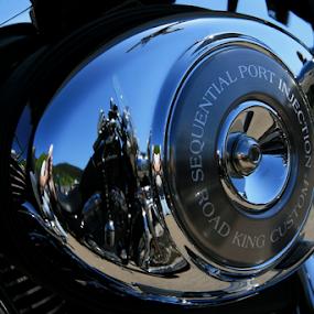 HD reflection by Dominic Jacob - Transportation Motorcycles ( harley davidson, harley, reflection, motor, davidson, motorcycle, hd,  )