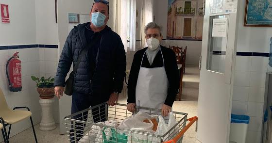 La solidaridad de Verdiblanca lleva más de 400 kilos de alimentos a La Milagrosa