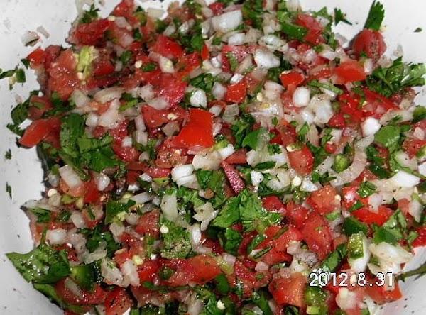 Make pico de gallo. http://www.justapinch.com/recipes/sauce-spread/salsa/pico-de-gallo-7.html