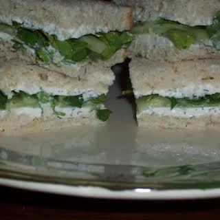 Cucumber & Watercress Sandwich.
