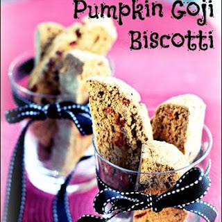 Whole Wheat Pumpkin Goji Biscotti