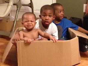 Photo: my nephews in a box