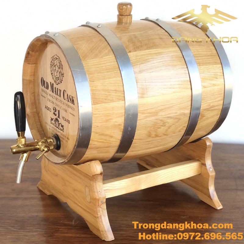 Tùy theo kích thước thì bình đựng rượu gỗ sồi có giá khác nhau