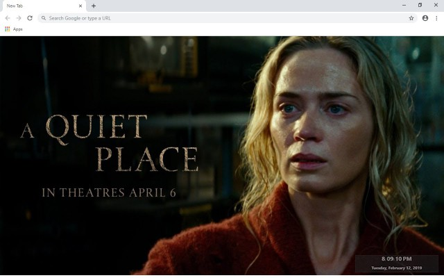 A Quiet Place New Tab & Wallpapers Collection