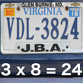 Car Plate Equations