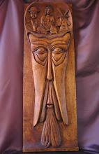 Photo: Don Quijote. Tamaño: 120 x 41 cm. || Talla en madera. Woodcarving.   Puedes conocer más de este artista en el blog: http://tallaenmadera-woodcarving-esculturas.blogspot.com/