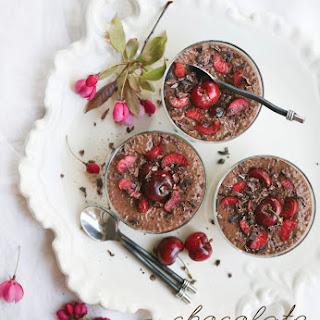 Chocolate Cherry Chia Pudding Recipe