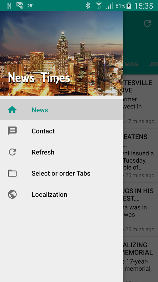 NewsTimes- screenshot