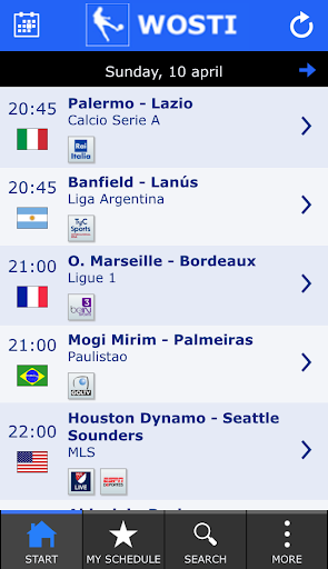WOSTI Football TV Guide - screenshot