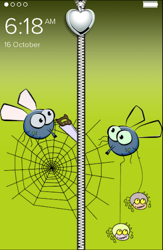 Funny Spider Zipper LockScreen