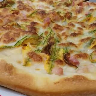 Pizza Zucchini Flowers.