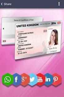Fake ID Card Generator Screenshot