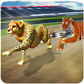 Crazy Wild Animal Racing Battle