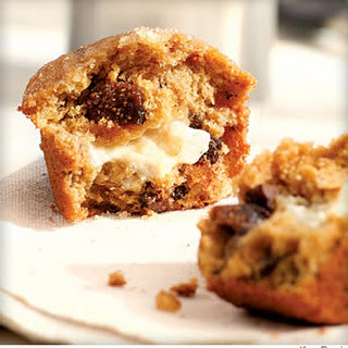 Honey & Goat Cheese-Filled Fig Muffins