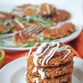 Baked Zucchini Amaranth Patties.