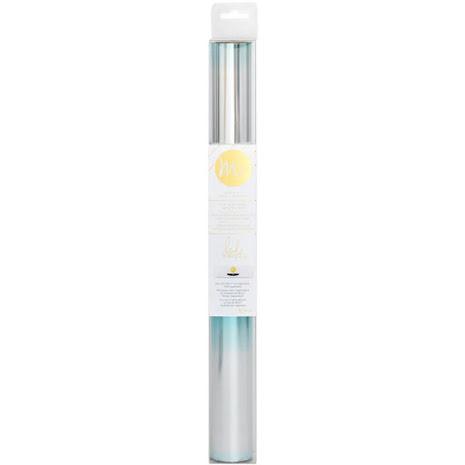 Heidi Swapp Minc Reactive Foil 12.25X10 Roll - Teal/Silver Ombre