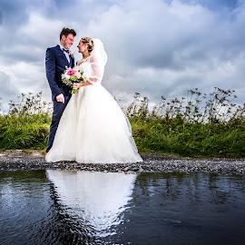 The Reflection by Joe Jones - Wedding Bride & Groom ( wedding photography, wedding, bride and groom, bride, groom )