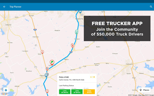 maps and directions for truck drivers