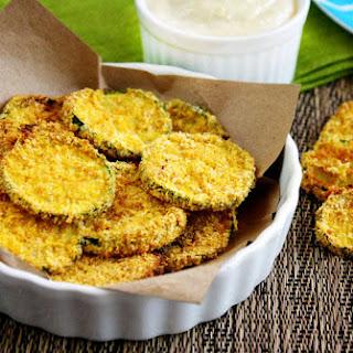 Gluten-Free Vegan Oven Baked Zucchini Chips.