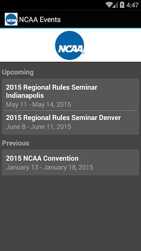NCAA Events