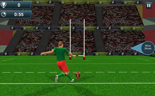 橄榄球弗里克踢拍摄3D