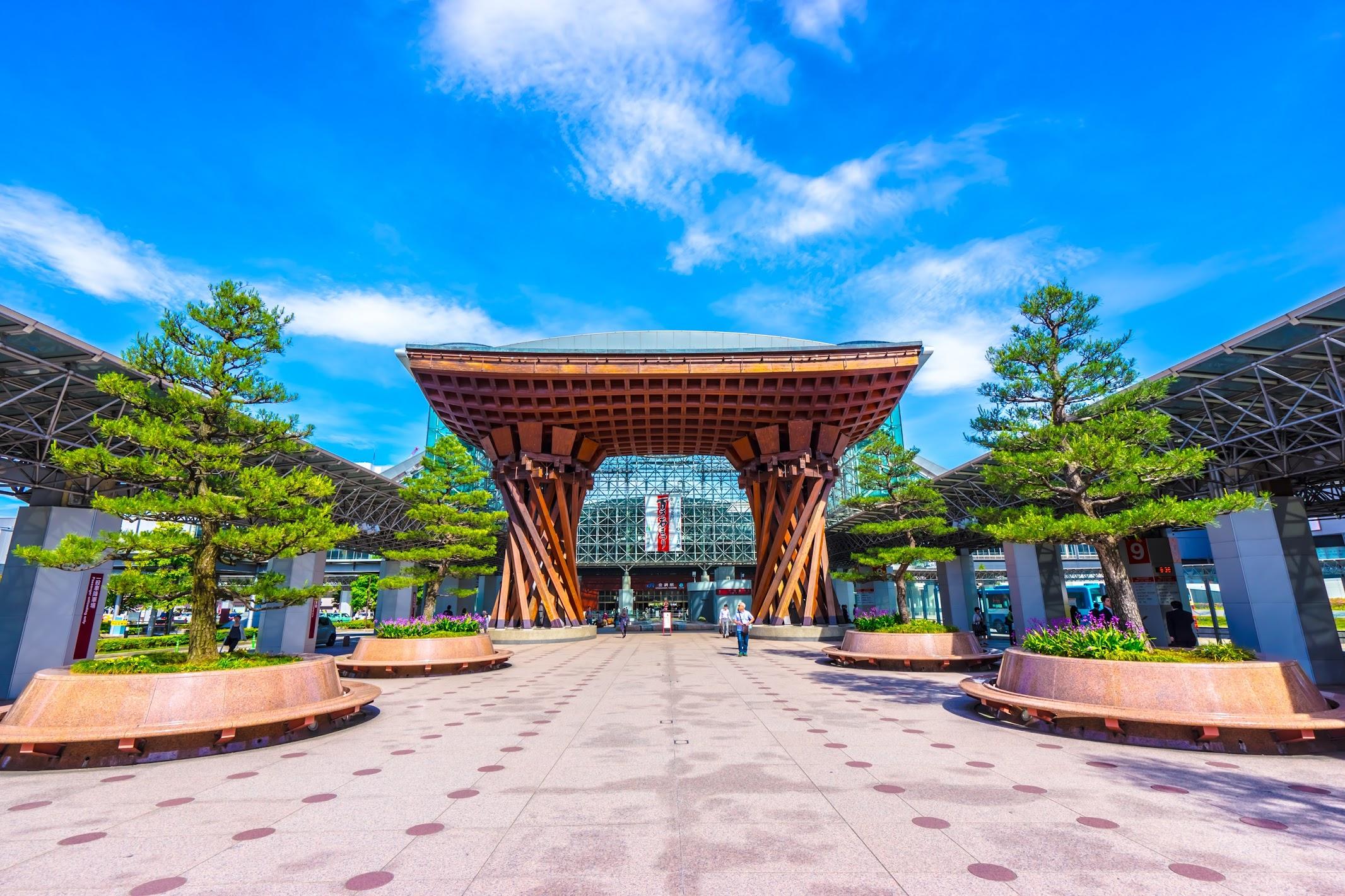 Kanazawa station Tsuzumi-mon1