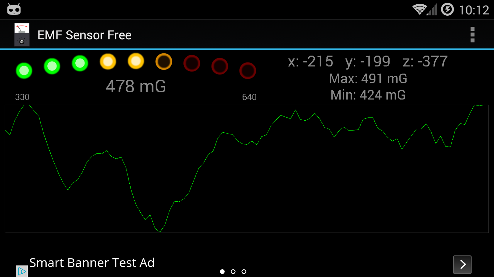 EMF Sensor Free - screenshot