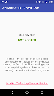 Check if Device is Rooted- screenshot thumbnail