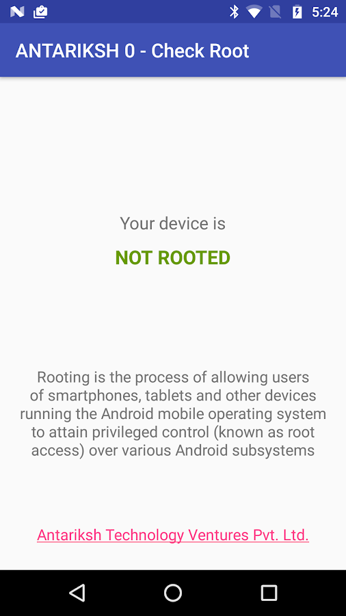 Check if Device is Rooted- screenshot