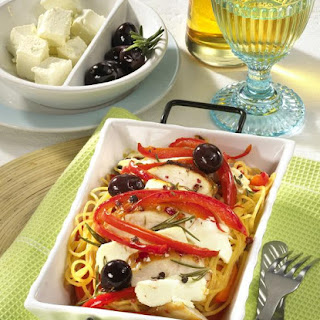 Baked Spaghetti With Feta Cheese