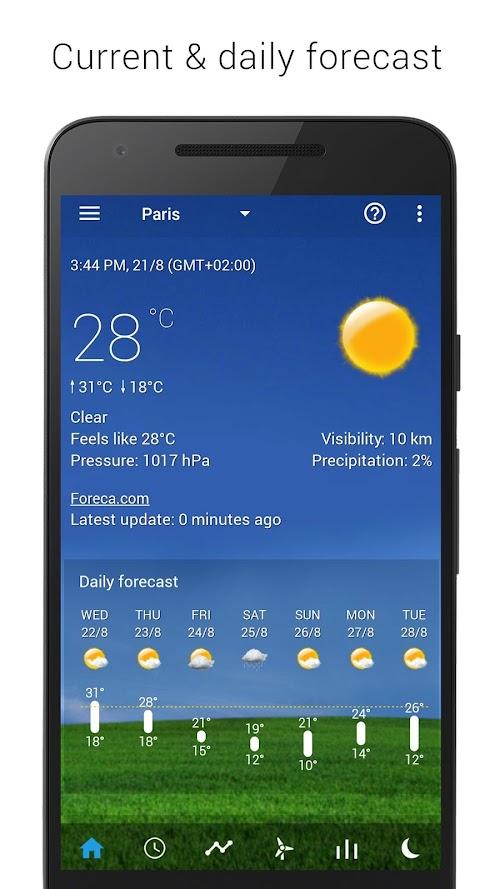 Screenshot 2 Sense V2 Flip Clock & Weather 4.41.02 APK PAID
