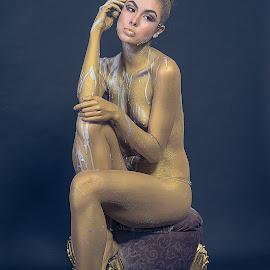Carol by Crispin Lee - Nudes & Boudoir Artistic Nude ( brazil, model, indoor, painting, portrait )