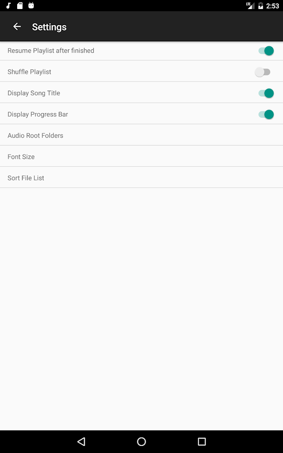Music Folder Player- screenshot