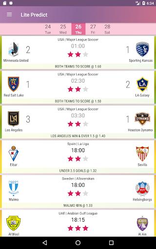 Lite Predict - Football Prediction Tips Version 4.1 Wing screenshots 7