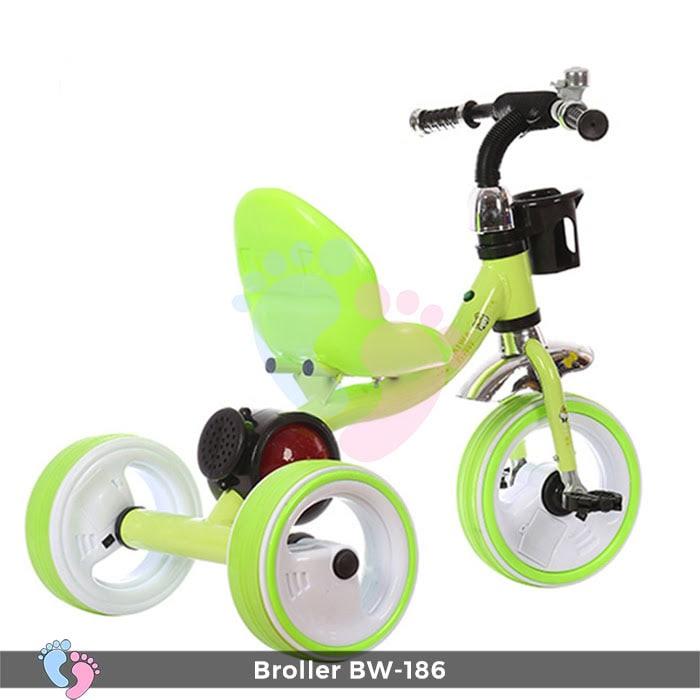 Xe đạp 3 bánh Broller XD3-186 có đèn bánh xe 10