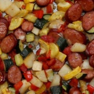 2. One-Pan Sausage and Veggies
